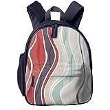 Kinderrucksack Wellenlinien ohne Form Babyrucksack Süßer Schultasche für Kinder 2-5 Jahre