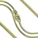Goldkette Schlangenkette diamantiert Massiv 333 8Karat B: 1,20mm L: 45cm Echtgold Gelbgold Halskette hochwertiges Gold Collier für Damen Herren und Kinder