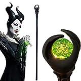 Auplew Evil Wizard Zauberstab Maleficent Glowing Staff Wizard Zepter LED Licht Zauberstab Halloween Hexe Deluxe Prop Cosplay Maskerade Hexerei Spielzeug