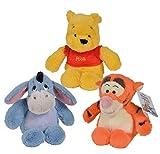 Simba Nicotoys Disney Snuggletime Winnie The Pooh, 3er Set mit Winnie, Tigger und I-Ah