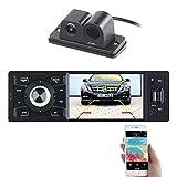 Creasono Autoradio mit Display: MP3-Autoradio mit TFT-Farbdisplay und Farb-Rückfahrkamera (1 DIN Autoradio mit Rückfahrkamera)
