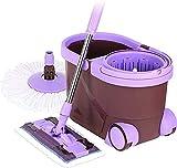 Das Doppelantriebsdreh mop Flachmopp bucket mop Putzeimer mit dem Drucktuch Sprinkler,Purple