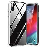 TORRAS Diamond Series für iPhone X Hülle/iPhone XS Hülle mit Panzerfolie, Voller Schutz Schutzhülle Hard Back und Soft Bumper Case Handyhülle für iPhone X/XS-Transp