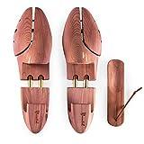 Blumtal Schuhspanner für Herren und Damen - Schuhdehner aus Zedern-Holz, mit Schuhlöffel, Größe 44-45, 1 Paar