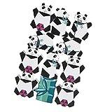 NUOBESTY 11pcs Kinder Balancierspiel Holz Panda Form Bausteine schult die Konzentration Feinmotorik Balancierwippe Holz Motorikspielzeug Lenspiel für Kinder