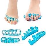 2 Paar Zehenabscheider und Gel Zehenabscheider für überlappende Zehen, Begradigte Gebogene Zehen und Linderung und Korrektur von Ballen Schmerzlinderung und -schutz, Erhältlich für Männer und Frauen