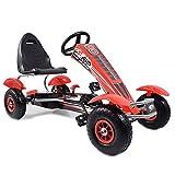 Kinder Go Kart Super Red Race Machine F8 Tretauto Gokart Luftreifen 5-12 Jahre
