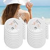 Sonnenschutzcreme, 3 Ml X 20 Beutel SPF46+ Feuchtigkeitsspendende Reise-Sonnencreme Wasserdichter, Schweißfester, Erfrischender Sonnenschutz, Feuchtigkeitsspendende Lotion mit Hohem Sonnenschutz