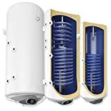 wandhängende elektrische Warmwasserspeicher/Solarspeicher mit SMART Control - 1 oder 2 Wärmetauscher - mit 2kW oder 3kW - Anschlüsse links oder rechts - 80 100 120 150 200 L