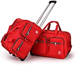 GQY Trolley - Rollkoffer 2 Laptoptasche Rucksack (Color : Rouge, Size : 53 * 32 * 34)