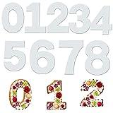 Swetup Zahlen Backformen, 9 Stück Torte Zahlen Vorlage Große, Number Cake Schablone, Zahlen Backformen, Zahlenkuchenform, Kuchen Zahlenform für Jahrestag, Hochzeit, Geburtstag, Kuchen, Ausstechformen