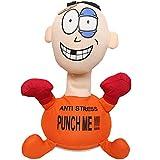 Orderking Stoffpuppe Stress - Max mit Aufdruck, Figur mit Saugnäpfen an der Unterseite, ideal zum Abbau von Stress, Wut und Aggressionen