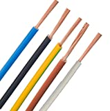 Verdrahtungsleitung - H07V-K - 4mm² 6mm² 10mm² 16mm² - schwarz, blau, grün gelb, grau, braun, ***Meterware*** - PCV Einzelader feindrähtig, 10mm² Braun