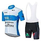 NAXIAOTIAO Radfahren Jersey Set, Atmungsaktiv/Feuchtigkeitsdicke Kleidung, Kurzarm Fahrrad Outdoor Sports Kleidung,B,L