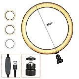 illumafye LED Ringlicht, Selfie Ringlicht mit Stativ Tisch Ringleuchte mit Handyhalter und Fernbedienung, für Make-up,Live-Streaming,YouTube, Tiktok, Vlog und Fotografie