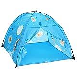 SONGMICS Spielzelt für Kleinkinder, Pop-up Indianerzelt, Tipi, tragbar, mit Tragetasche, für Junge und Mädchen, für innen und außen, Geschenk für Kinder, Sternen-Motiv, blau LPT501B01