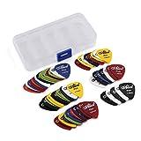 60 Stück Plektren Plektrum Guitar Picks - - Mix von Größen 0.58/0.71/0.81/0.96/1.20/1.50 (mm) - Gitarrenplektren Zelluloid Plektren Pick Plektrum mit der pvclbox
