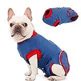 Kuoser Hunde-Genesungsanzug für Kleine Mittelgroße Haustiere, Nach Operationen für Bauchwunden Hautkrankheiten, Verhindert Lecken Beißen und Kratzen