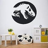 Boezhl Wandaufkleber Tyrannosaurus Shadow Dinosaur Wallpaper Vinyl Aufkleber Kinder Schlafzimmer Kinderzimmer Home Decor 85x93cm