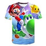 AMCYT Super Mario T-Shirt Kurzarm für Jungen,4-14 Jahre (Mario 12,100)