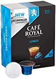 Café Royal 36 Lungo Nespresso®* kompatible Kapseln aus Aluminium - Intensität 4/10 - Großpackung 36 Kaffeekapseln - UTZ-zertifiziert - Kompatibel mit Nespresso®* Kaffeemaschinen