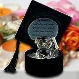 Graduation Gifts University College Graduation Pass Geschenk Kristall Eule in schwarzem H