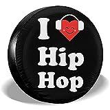 Reifenabdeckung Ich Liebe Hip Hop Ersatzreifen Radabdeckung wasserdichte Staubdichte Universal-Reifenabdeckungen 14/15/16/17 Inch