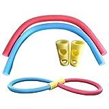 Schwimmnudel Pool Noodle 2 Stück Hohlschaum Poolnudel mit 2 Anschlüssen, 59 Zoll Wasser Hohle Nudel Swimmingpool Hilfe für Erwachsener und Kinder