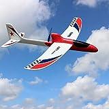 Yzki RC Flugzeug Spielzeug, elektrisches EPP Schaum Flugzeug ferngesteuert mit 2,4 GHz mit Batteriehülle Handwurfspielzeug Kinder Fliegenspielzeug, rot, Free Size