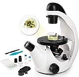TELMU Mikroskop - Umgekehrtes Mikroskop mit Einer Vergrößerung von 40X-320X, wissenschaftliches biologisches Mikroskop für Kinder mit einem Handysauger