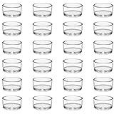 BELLE VOUS Teelichtgläser Set Votivkerzenhalter Glas (24er Pack) Teelichter Glas 4,5 cm Dm & 2,5 cm Höhe - Teelicht Glas für Heimdekoration, Hochzeiten, Partys & Tischdekoration Kerzen Glasbehälter