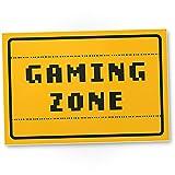 DankeDir! Gaming Zone - Kunststoff Schild - Partydeko Zocker Deko Schüler Spielzimmer Türschild Zimmer Geschenkidee Party - Jungen Geburtstagsgeschenk Teenager Gamer Geschenk Jugendlicher Dekoration