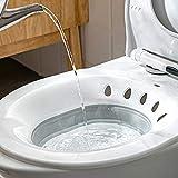 Faltbare Sitzbadewanne für WC, Sitz, Badewanne, Waschbecken für schwangere Frauen, Hämorrhoiden, ältere Menschen, passend für universelle Toiletten und Toilettenstuhl (grau)