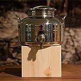 Olivenölfass, Edelstahl mit Zapfhahn, 5 Liter Fassungsvermögen 1er Pack