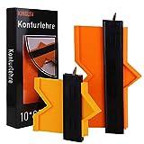 Konturenlehre mit Feststeller, 2 Stücke 25cm & 12cm Konturenlehre(Metallschloss), Genaues Profillehre für Unregelmäßige Form Vervielfältigungslehre für Holzmarkierungswerkzeug