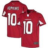 THDB Custom American Football Rugby Trikots # 10 rot, Jugend 2020 Spieltrikot, schnelltrocknende Sportbekleidung für Jungen Gr. M, rot