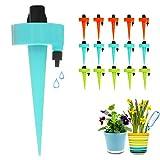 FRECOO Automatisch Bewässerung Set, Pflanzen Bewässerungssystem mit Einstellbar, Pflanzen Blumen Bewässerung für Topfpflanzen Garten Pflanzen Zimmerpflanze und Sprinkler Bewässerung DIY Kit-15 Stück