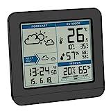 TFA Dostmann SKY Funk-Wetterstation, 35.1152.01,Wetterstation Funk mit Außensensor, Wettervorhersage, Funkuhr, innen und auß