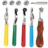 Kunststoff, Stahl, Holz, Leder-Nähwerkzeuge, DIY-Lederwerkzeug zur Bestimmung des Stichloch-Positionsintervalls,