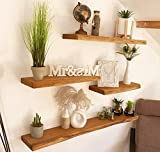 Wandregal Regal Eckregal küchenregal hängeregal Regalbrett Bad Regal Wandboard Holz Eiche (100 cm)