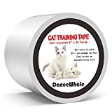 DanceWhale Anti Kratze Katzen Traning Klebeband, 10cm x 30m Kratzschutz Katze Hund Transparent Selbstklebend Kratzfestes für Sofa, Tür, Tisch, Möb