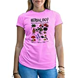 Herbalogy Hogwarts School of Witchraft and Wizardy Damen Rose T-Shirt Size L