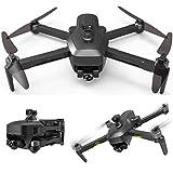 XNJHMS Gimbal Drohne mit EIS Anti-Shake 4k UHD Kamera für Erwachsene 5GHz Live Video Rc Quadcopter Dual Kameras Tragetasche