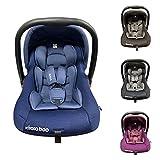 Kikkaboo Kindersitz, Babyschale Vivo Gruppe 0+ (0-13 kg) weiches Körperkissen, Farben:blau