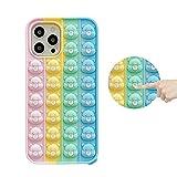 XYOUNG Schutzhülle für iPhone 8 Plus/7 Plus/6S Plus/6 Plus (5,5 Zoll), Push-Bubble-Sensory Fidget Toy Case Release Stress Protection Cover mit Ständer Bär
