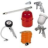 Original Einhell Druckluftset Profi 5-tlg (Kompressoren-Zubehör, Metallisch, Rot, Weiß)