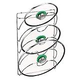 mDesign vertikaler Topfdeckelhalter - praktische Küchenutensilien für Topf- und Pfannendeckel - handliches Küchenzubehör - verchromtes Metall
