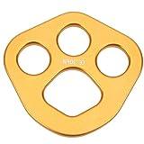 DAUERHAFT Rundform Design Rigging Plate Ankerplatte Vollfarbig für Klettern/Outdoor-Expansion/Downhill/Höhenbetrieb usw.(Golden)