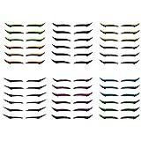 6PCS Waterproof & Reusable Eyeliner Stickers - Eyeliner Wasserfest, Eyeliner, Bunter flüssiger Eyeliner-Stift für Cosplay und ein anderes Aussehen, einfach zu färben, wasserdicht, wischfest