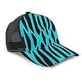 Yesliy Unisex Baseball Cap Fashion Sonnenblende Cap Sport Outdoor Sonnenhut Größe verstellbar Baseball Cap Türkis Blau Zebra Streifen Safari